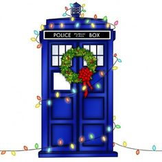 TARDIS decorated for Christmas
