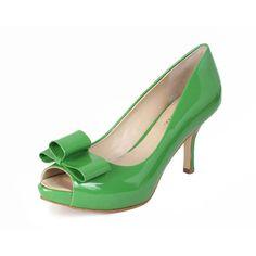 Carolina Peep Toe Green