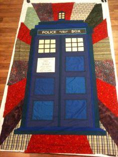 sew, tardi quilt, crafti stuff, awesom quilt, diy idea, tardis, diy quilt geek, quilt idea, awesome quilts