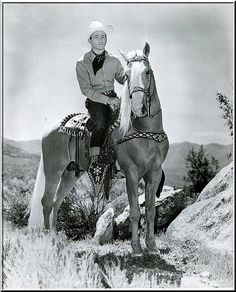 """From the late 1930s to   the late 1950s Roy's presence and magical singing   voice touched us from movie screens, television   screens, radio and records, and in countless     personal appearances all over the country.   In 1943 he was declared """"King Of The Cowboys,""""   a grand title that fit him effortlessly"""
