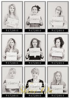 @Brittany Paquet....  ok, I'm a total stalker for Nichole's wedding, but here in lies ANOTHER thing you girls must do! add the Mom's in too~  Morning of wedding mug shots...this is hilarious