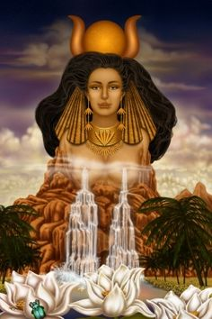 Hathor: This Egyptian goddess is represented by the head of a cow to symbolize life-giving milk. She is a sky and sun goddess who helps with all aspects of mothering. Hathor personified the principles of love, beauty, music, motherhood and joy