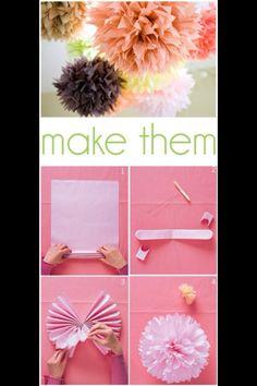 DIY - Paper flower ball