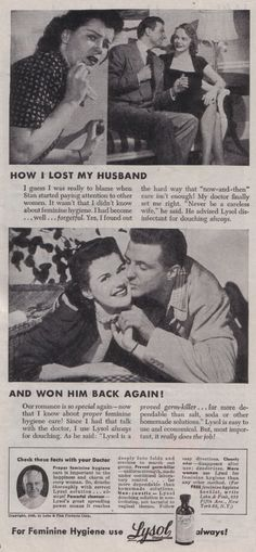 """His vows never specified """"unmentionable odors.""""  (Funny bad retro hygiene ads)"""