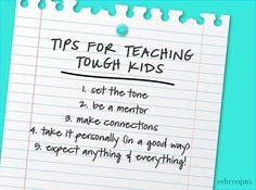 What tips would you add? Learn more techniques to help students who have ongoing discipline issues.