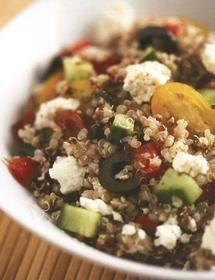 Mediterrean feta quinoa salad