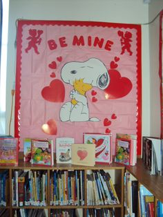 valentine bulletin board library display