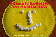 5 Simple Activities for a SMILE DAY!!