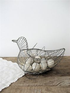Wire Egg Basket... Haha my mom had one!! :)