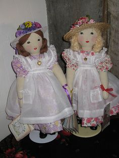 Edith Flack Ackley doll pattern-To greet a little girl by grannyinak, via Flickr