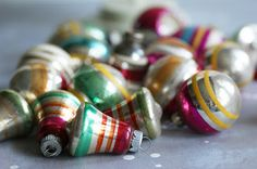 Shiny Brite ornaments-I love them