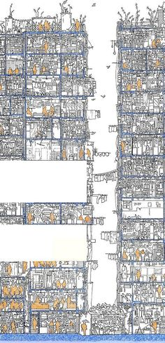 Cross-section, Kowloon Walled City