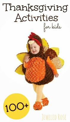 Thanksgiving Activities for Kids- arts, crafts, games, fun recipes, and MORE!