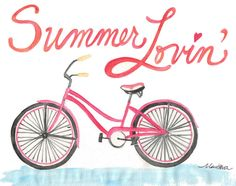 www.MariRobesonStyle.com #Watercolors #BeachCruisers