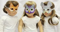 Fun Forest Critter Masks to make on the embroidery machine for your doll