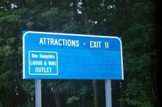 This particular exit is a spring break hot spot.