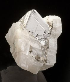 Carrollite in Calcite - Kamoya South Mine, Kambove, Katanga, Democratic Republic of Congo