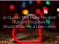 """""""10 Fitzgerald Quotes"""" - A Haiku Deck #setyourstoryfree"""