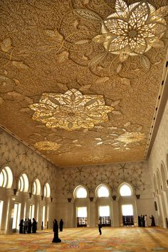 Ceiling of Grand Mosque / United Arab Emirates
