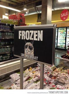 Grumpiness found at Whole Foods…-Grumpy Cat
