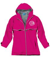 Monogrammed Womens New Englander Hooded Rain Jacket   Order now from PresentlyPersonalizedGifts.com  Includes FREE Personalization...