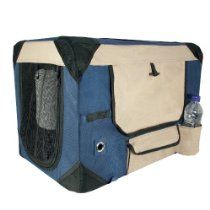 Dogit Deluxe Soft Crate with Bag for Pets, Medium, Blue