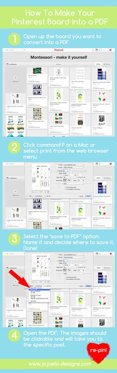 how to print your boards as a pdf!