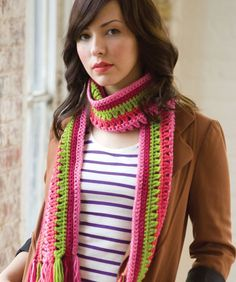 Quick & Easy, Taffy Pull Scarf: free pattern