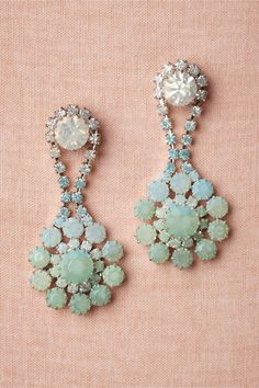 mint green, accessori, spring collection, bridal jewelry, vintage inspired wedding, something blue, wedding earrings, blues, green weddings