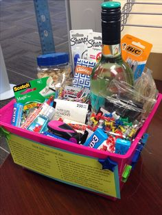 Going Away gift to coworker- new job survival kit #DIY | Thoughtful ...
