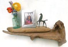 "Driftwood Shelf  Medium Reclaimed Wood 18"" Long"