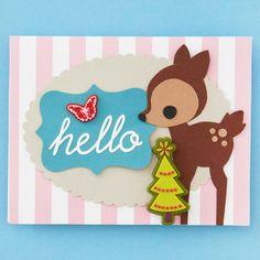 Cute Reindeer Christmas Card