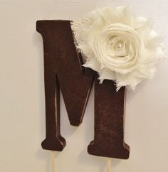 Distressed Rustic Cake Topper with Burlap and by LLBridalDesigns, $28.50