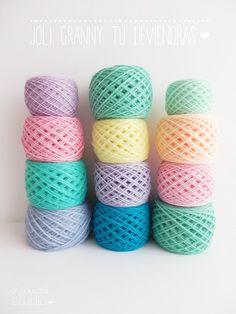 Candy colored yarn yummy!