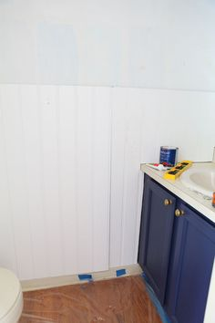 How to install bead board wall panels and a picture ledge to a wall