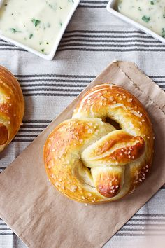 Soft Pretzels with Roasted Jalapeno Cheese Sauce by Smells Like Home, via Flickr