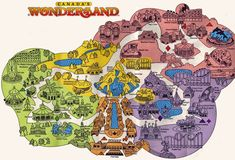 Canada's Wonderland map circa 1981.