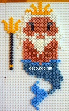 King Triton - The Little Mermaid hama perler beads by Deco.Kdo.Nat
