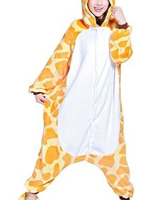 Win8Fong #Kigurumi #PajamasAnime #CostumeAdult #AnimalOnesie #GiraffeCosplay Size XL #Voglee