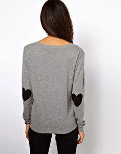black elbow hearts