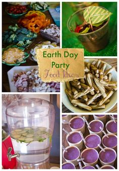 Earth Day Birthday Party Food ideas.