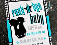 Rock a Bye Baby Shower: The Invite