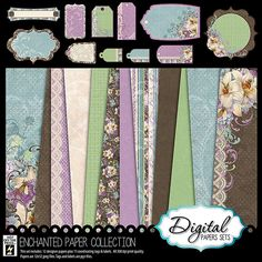 Digital Scrapbooking - Digital Papers at PaperWishes.com