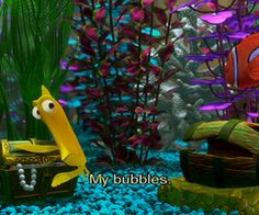 Finding nemo on pinterest 25 pins for Bubbles fish finding nemo
