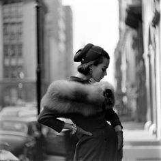 Fashion photography by Gordon Parks. New York City, October 1952.