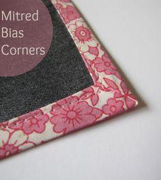 Mitred Bias Corners