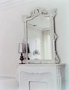 Mirror and white