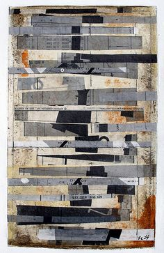 """Scott Bergey. """"A Must To Avoid"""". Mixed media collage on paper."""