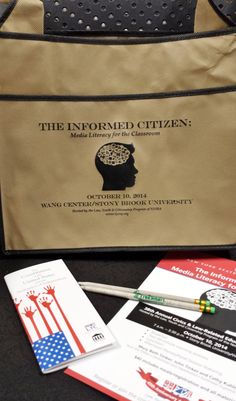 Lots of great giveaways in our conference bags for October. David Hudson's book, pens, a personal pocket Constitution and pencils made from recycled newspapers. Just the thing to help focus on Media Literacy. Join us at Stony Brook, NY; Oct. 10 www.nysba.org/LYCconf
