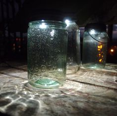These antique-looking vintage mason jars look GREAT with our solar powered mason jar lids! Get yours here: http://www.lightsforalloccasions.com/p-3505-vintage-blue-green-mason-jar.aspx #masonjar #solar #solarpower #light